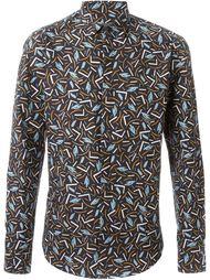 рубашка с принтом кактусов Salvatore Ferragamo