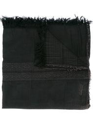 bar effect frayed trim scarf Uma Wang