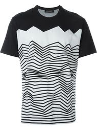 футболка с зигзагообразным принтом Neil Barrett