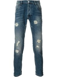 джинсы с рваными деталями   Hydrogen