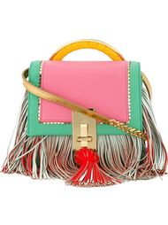 colour block fringed crossbody bag The Volon