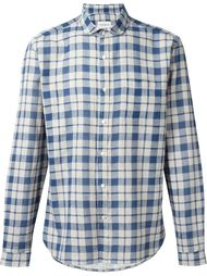 рубашка в клетку с итонским воротником Oliver Spencer