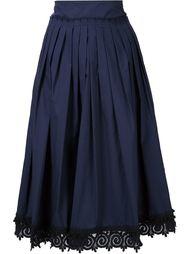 юбка с вышитой окантовкой Derek Lam 10 Crosby