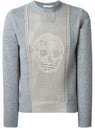 свитер с черепом Alexander McQueen