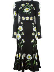 платье с крупными ромашками Dolce & Gabbana