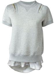 свитер с аппликацией  Sacai