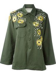куртка в стиле милитари с цветочной аппликацией Night Market