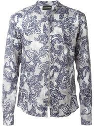 рубашка на молнии с принтом пейсли  Emporio Armani
