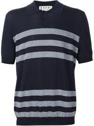 футболка-поло в полоску Marni