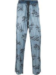 брюки с абстрактным принтом   Andrea Pompilio