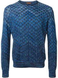 свитер зигзагообразной вязки   Missoni