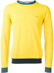 cuff and neck trim detail 'Giro' jumper Sun 68