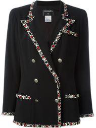 пиджак с декорированной окантовкой Chanel Vintage