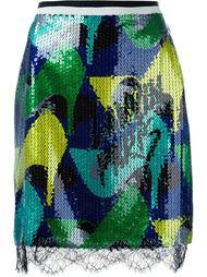 юбка-карандаш с пайетками Lanvin