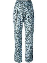 брюки с леопардовым принтом Fendi Vintage