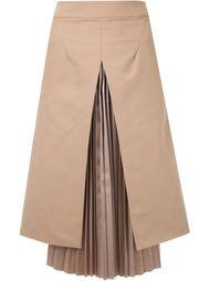 плиссированная юбка А-образного кроя   Taro Horiuchi