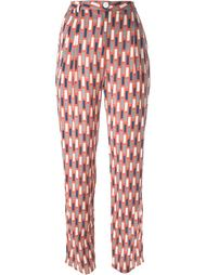 'Luxor' pattern tapered high waist trousers Minimarket
