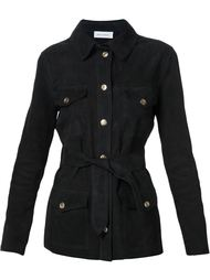 belted suede jacket Beau Souci