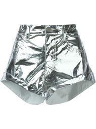 шорты с металлическим отблеском  Isabel Marant
