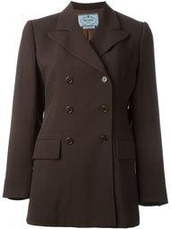 двубортный пиджак Prada Vintage