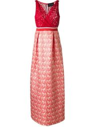 драпированное платье Christian Pellizzari