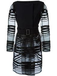 прозрачное пальто с поясом Herno