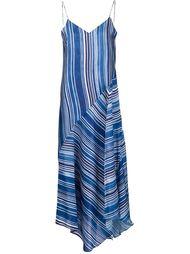 полосатое платье на тонких лямках Tess Giberson
