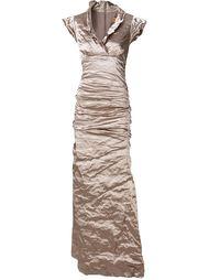 вечернее платье с мятым эффектом Nicole Miller