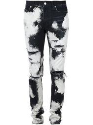 джинсы кроя скинни с эффектом тай-дай Saint Laurent