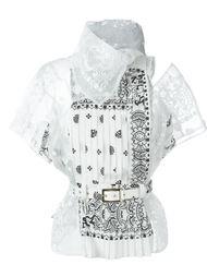 paisley print shirt Sacai