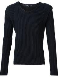 асимметричный свитер ребристой вязки Y / Project