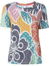 футболка с цветочным узором Diane Von Furstenberg