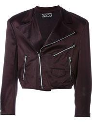 укороченная байкерская куртка Stephen Sprouse Vintage