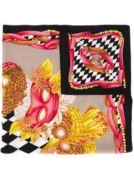 платок с принтом масок Fendi Vintage