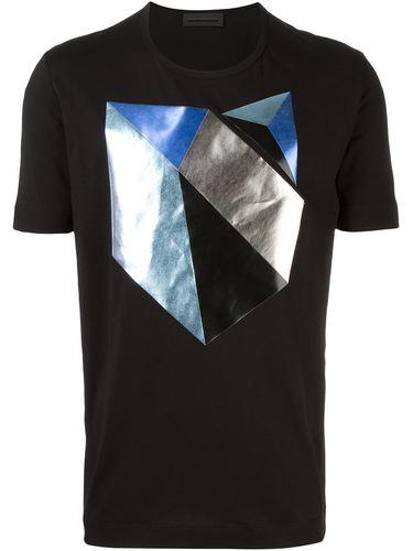 футболка с геометрическим принтом Diesel Black Gold