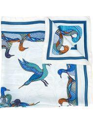 платок с принтом уток Hermès Vintage