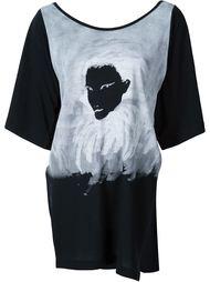 футболка с принтом ручной работы Yohji Yamamoto