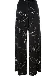floral print textured trousers Eggs