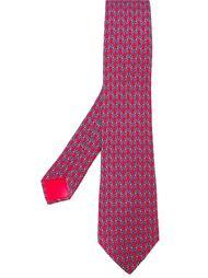 галстук с цепочным узором Hermès Vintage