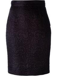 жаккардовая юбка-карандаш Moschino Vintage