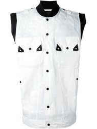 куртка без рукавов с эффектом пластика  KTZ