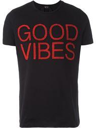 футболка 'Good Vibes' с вышивкой Nº21