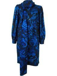 платье с принтом роз Yves Saint Laurent Vintage