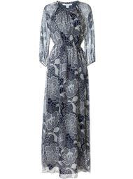 длинное платье с цветочным принтом Diane Von Furstenberg