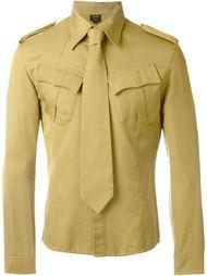 "рубашка в стиле ""милитари"" с галстуком Jean Paul Gaultier Vintage"