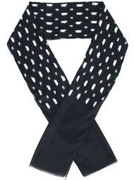 шарф с принтом мазков кисти John Varvatos