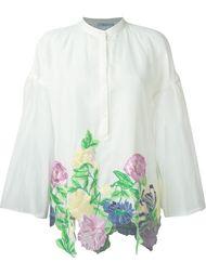 блузка с цветочной вышивкой и широкими рукавами Blumarine
