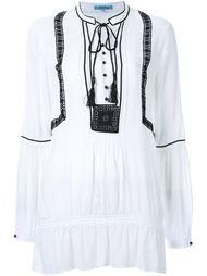 блузка с контрастной вышивкой  Guild Prime