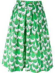 плиссированная юбка с принтом   Ultràchic
