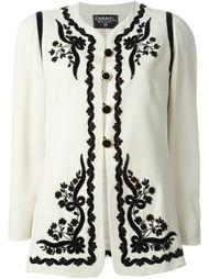 пиджак с вышивкой Chanel Vintage